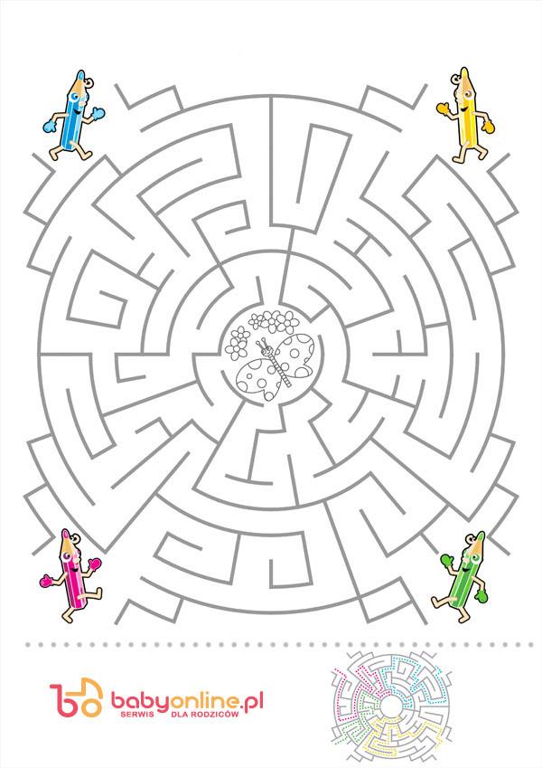 labirynt dla dzieci, labirynt do wydruku, gra dla dzieci, gra labirynt, labirynt z kolorowanką