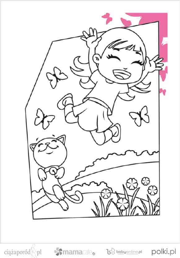 kolorowanki dla dzieci, kolorowanki do wydruku, kolorowanki kotki