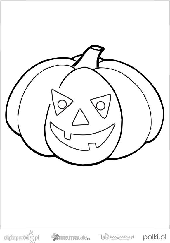 kolorowanka dynia, Halloween, kolorowanka na Halloween