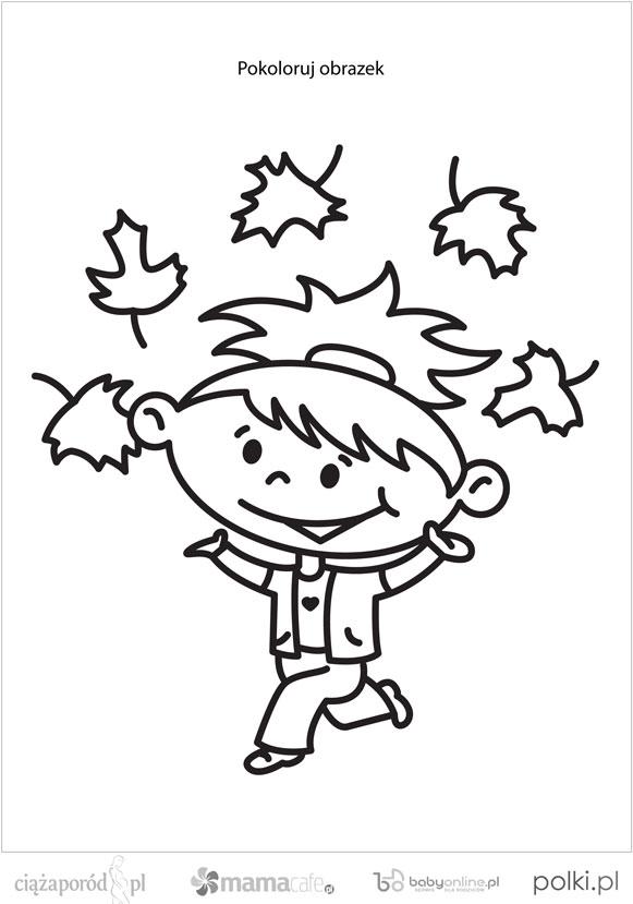 Zabawy Z Dzieckiem Jesienne Kolorowanki Dla Dzieci Strona 2