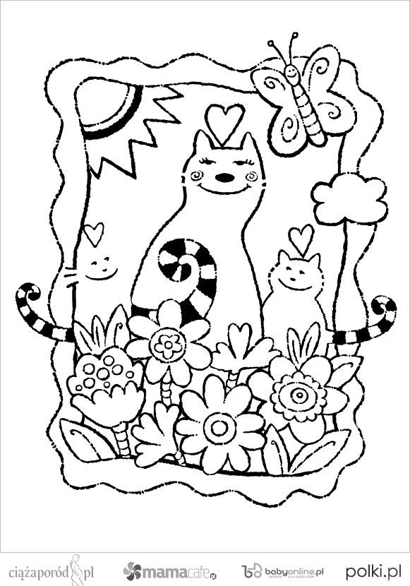 Kotki Kolorowanki Dla Dzieci Strona 11 Mamotojapl