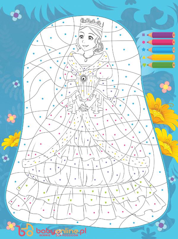 księżniczki kolorowanki, kolorowanki z księżniczkami, wróżki kolorowanki, kolorowanki do druku