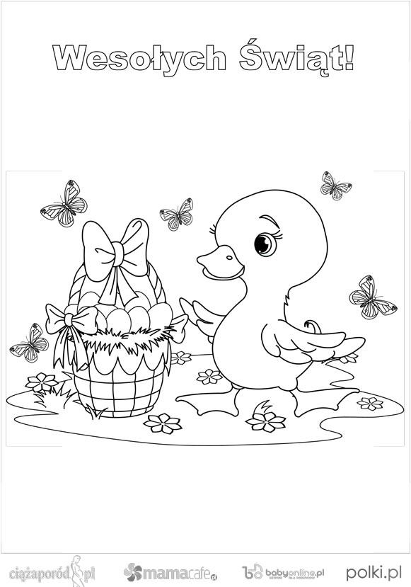 kolorowanki kurczaczki, kolorowanki dla dzieci, kolorowanki do wydruku